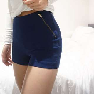 Zara Navy Shorts