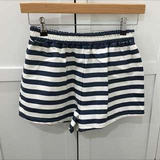 Wet Look Stripe Shorts