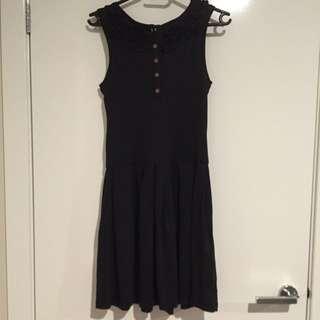 (pending) Flattering Skater Dress With Ruffle Design