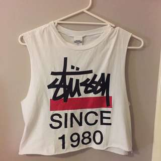Stussy Cropped Muscle Tee