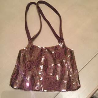 Sequinned and beaded Olga Berg bag