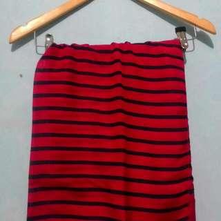 Pashmina Stripe Red - Navy