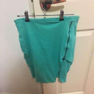 Kookai Skirt Size 2 (Tiffany And Co Green)