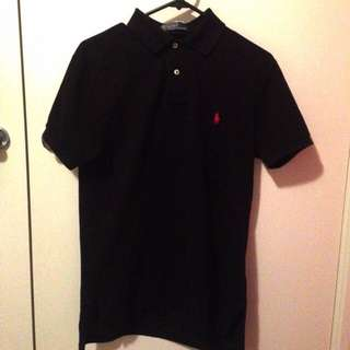 Ralph Lauren Pony Polo Authentic Size S (Black And Red)