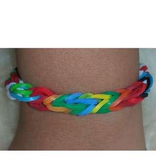 Item 132) Boy color Handmade Loom Band Bracelet