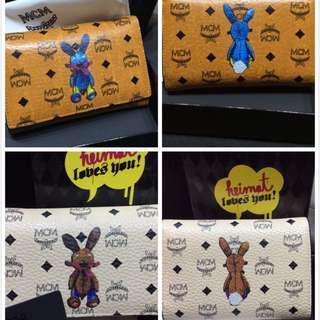 Ready Stock !! Mcm Authentic Rabbit Trifold Medium Women Wallet Purse Cognac Prada Wallet Burberry Wallet Coach Wallet Kate Spade Wallet
