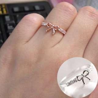 [Rings] Crystal Ribbon Ring