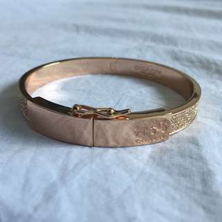 COACH Rose Gold Clip Bracelet