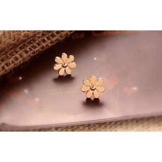 [Earrings] Gold Flower Earring