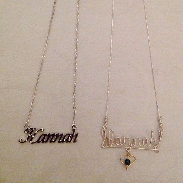 "2 ""Hannah"" Necklaces"