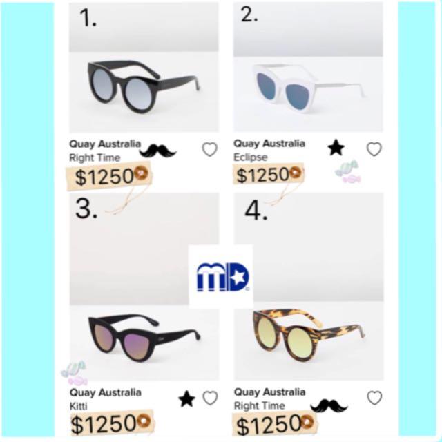 (預6/10-12)🇦🇺澳洲「Quay Au」歐美名人時尚太陽眼鏡😎