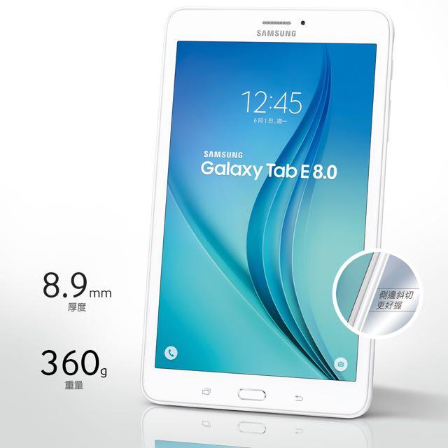 三星8吋平板Galaxy Tab E 8.0 4G LTE