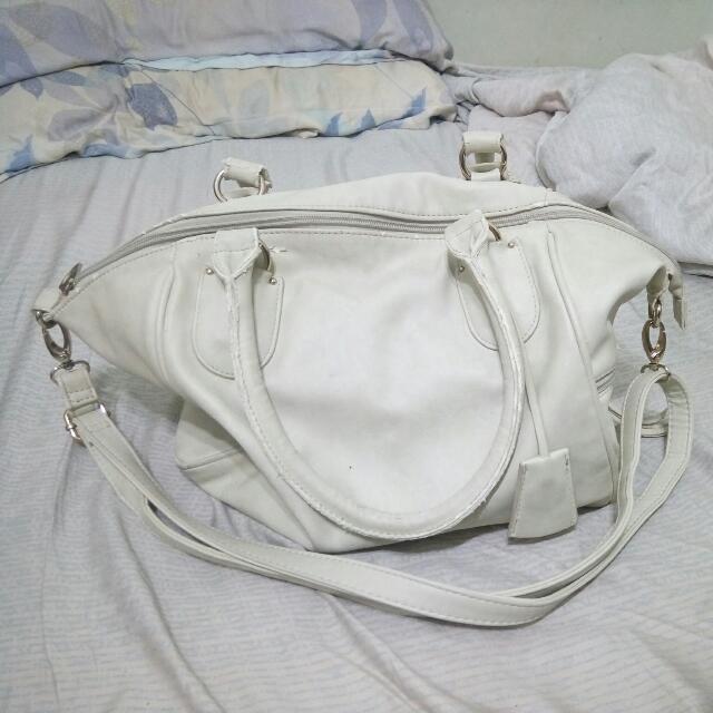 (日本)白色手提側背包