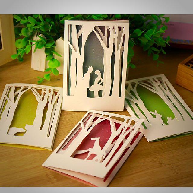 森林秘密鏤空小卡