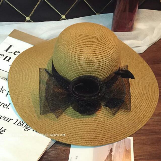 日系公主風紡紗編織遮陽帽 CA4LA 類似款