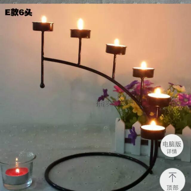 六頭歐系燭台【中國風歐風婚禮布置】