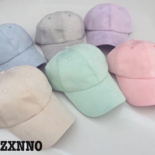 麂皮素色老帽