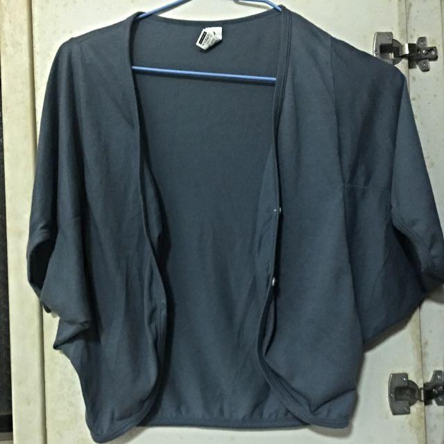 短版短袖藍綠色外搭外套