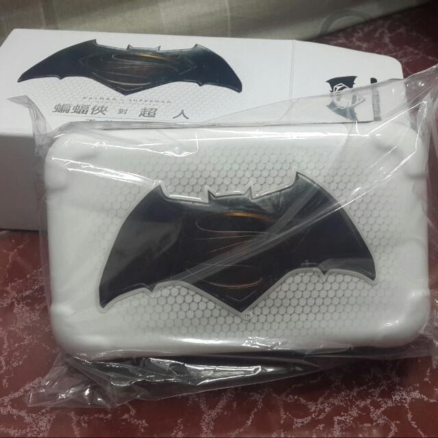 蝙蝠俠×超人 旅行過夜硬殼包(白色)
