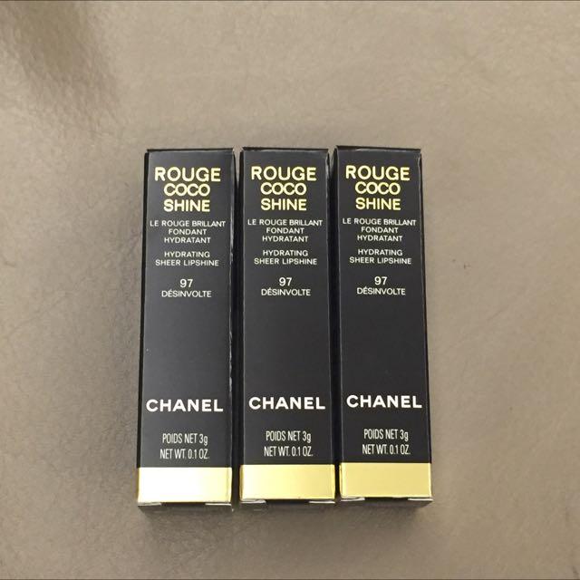 * Sukena * 現貨2支 Chanel Rouge CoCo Shine  #97 水亮唇膏 Melody 推薦