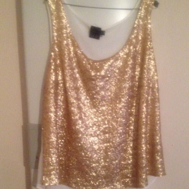 Asos Gold Sequin Top