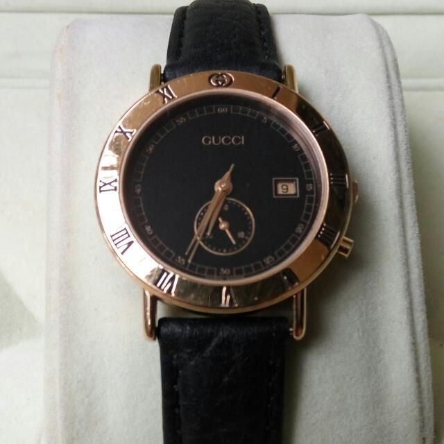 a0129eb7550 Authentic GUCCI Chronograph Quartz Unisex Watch Junior Model   3800 ...