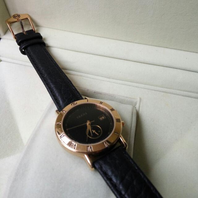50b2fd45bfc Authentic GUCCI Chronograph Quartz Unisex Watch Junior Model   3800 Swiss  Made