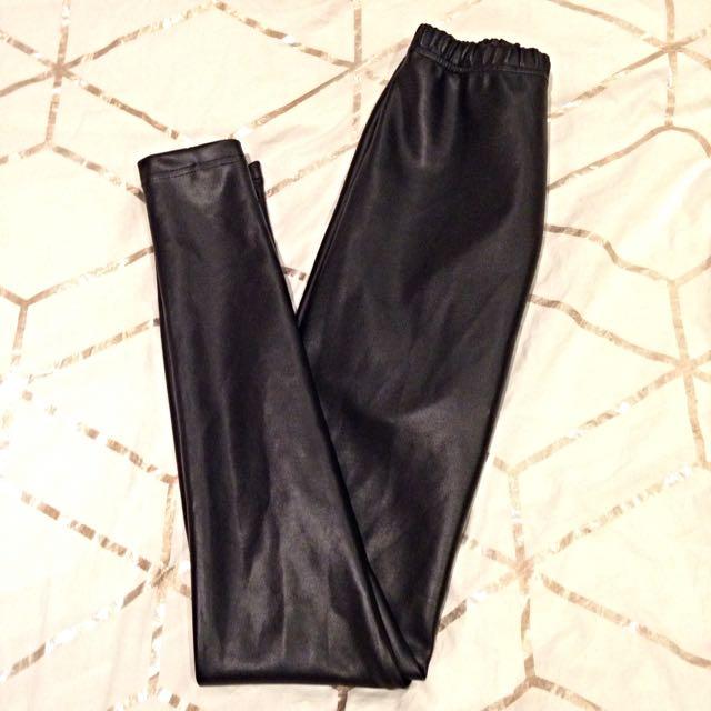 Bardot Leather Look Leggings