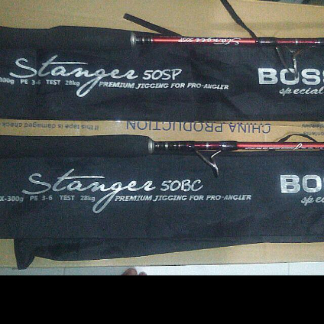 Bossna Stangee Boat Rod Pe3-6 SP and BC