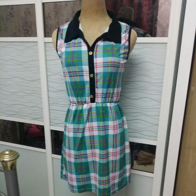 Checker Colourful dress