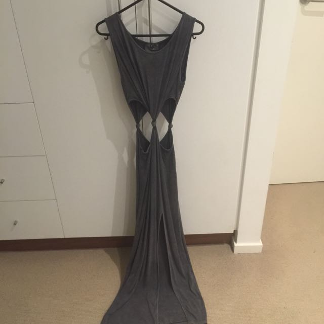 Cutout Maxi Dress With Side Split