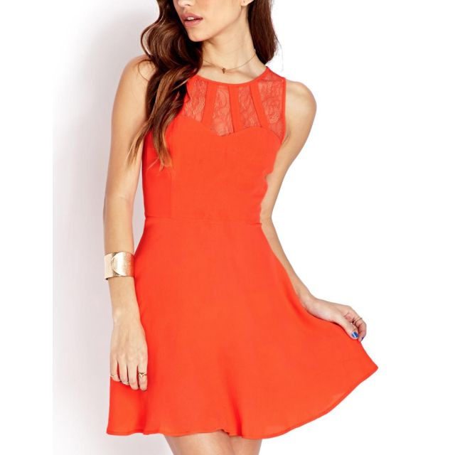 FOREVER 21 Delicate Lace Trimmed Dress