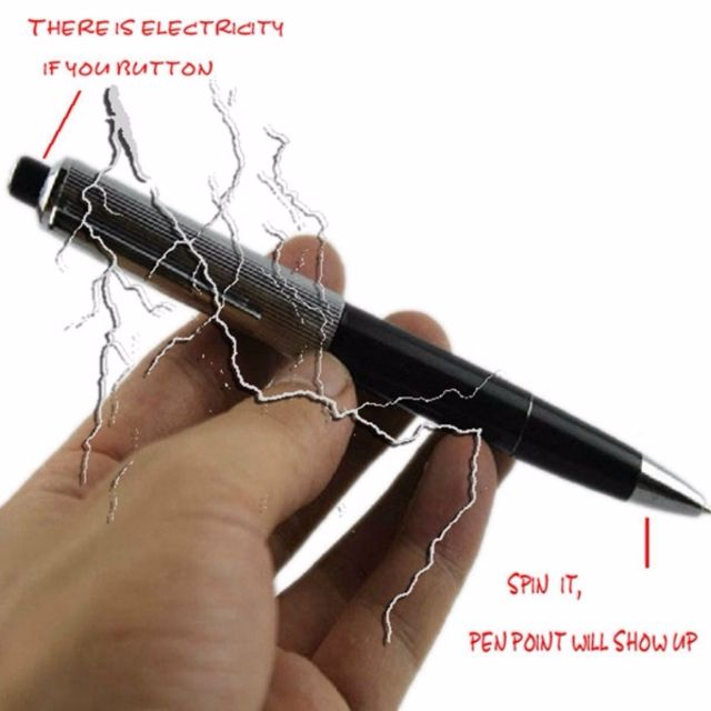 ★★Harmless Mild Shocking Ball Point Pen Electric Shock Surprise Toy ★★Funny / Kidding / Joking  / Gadget / Prank / Trick / Special Gift / Gag / April Fool's Day Electric ★★