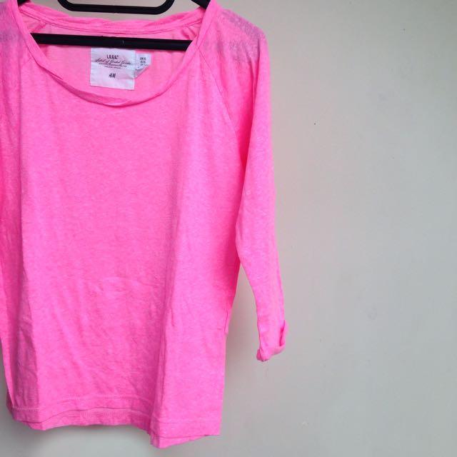 H&M Neon Pink Shirt