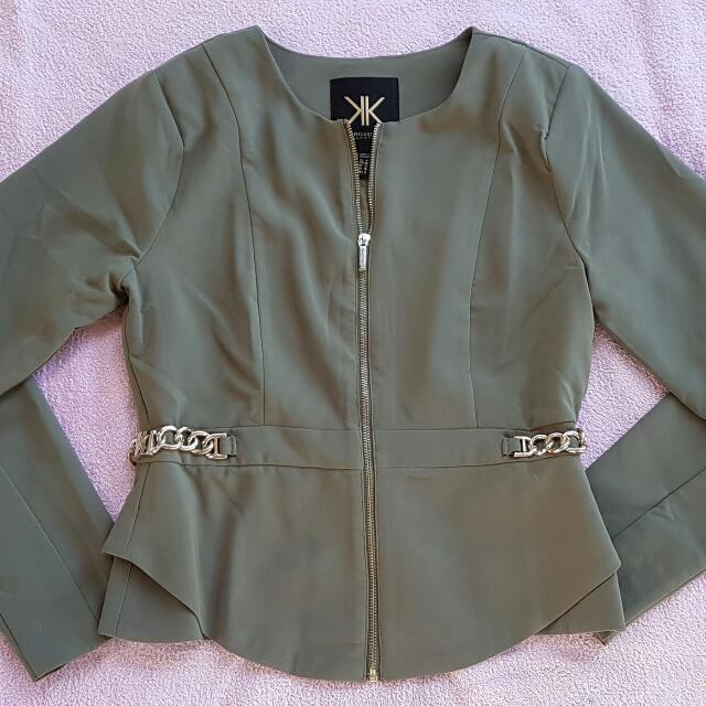 Kardashian Kollection Dress Jacket Sz 10