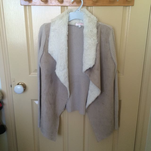Knit Fluffy Cardigan