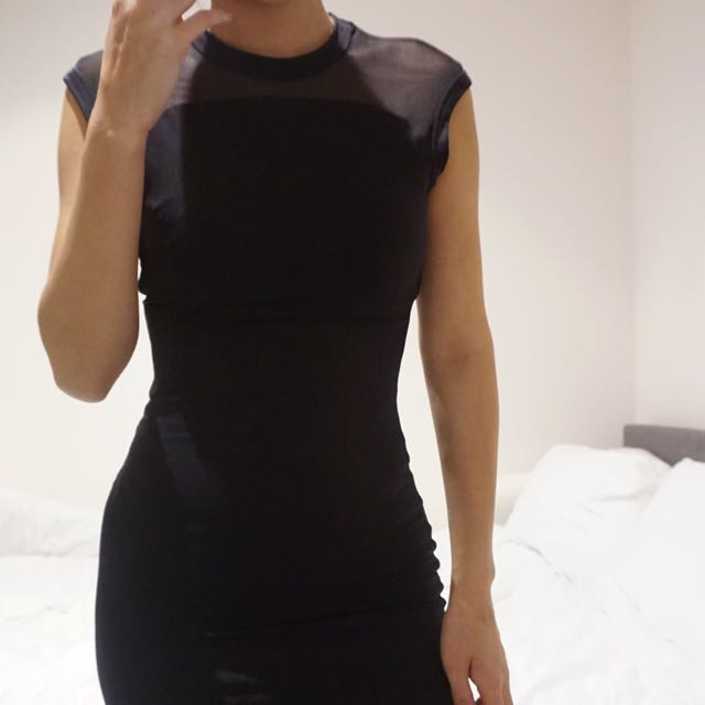 Kookai Black Midi Dress