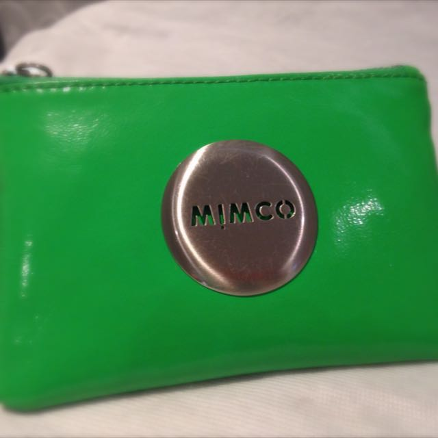 Mimco Wrinkle Cow Leather Pouch