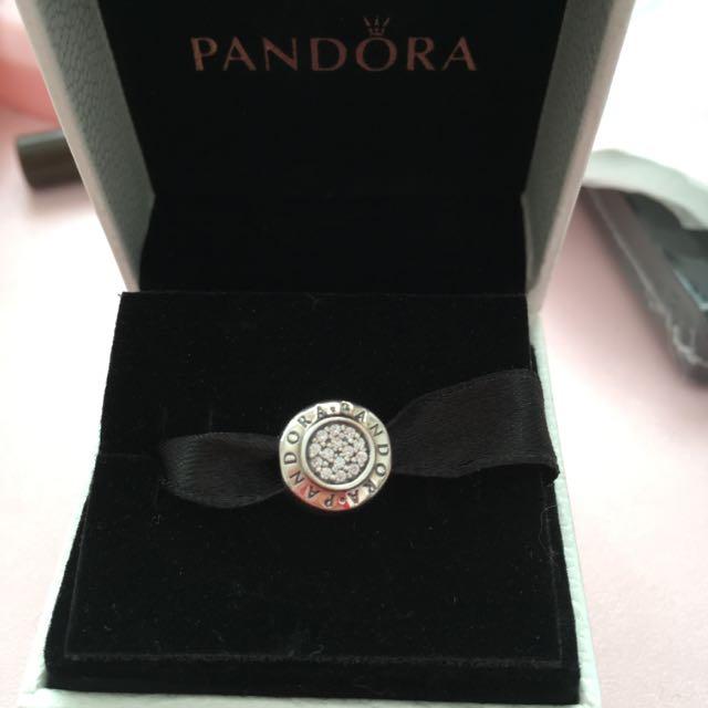 PANDORA Signature Silver Charm