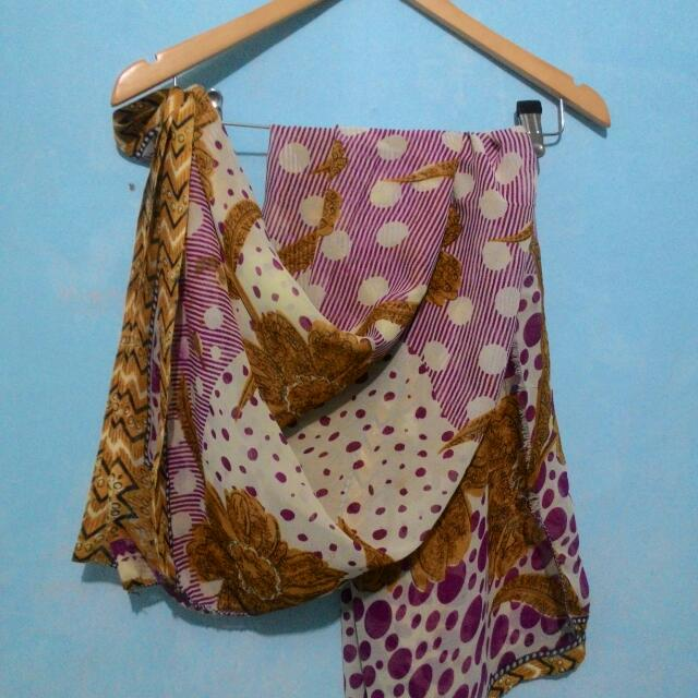 Pashmina Flower Yellow Pink