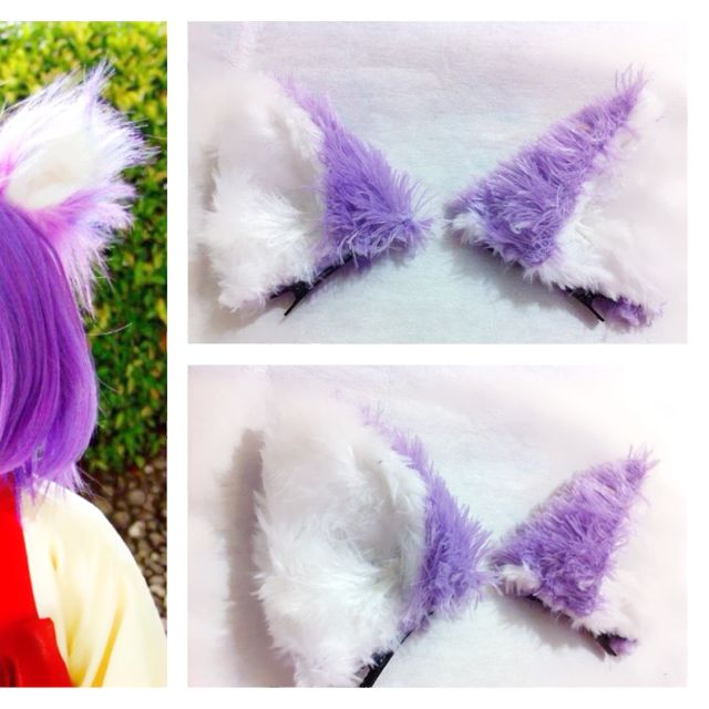 purple cat ear