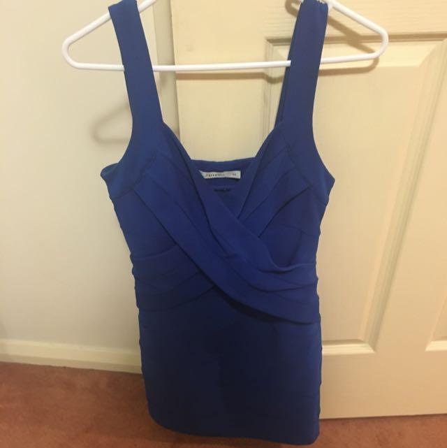 Royal Blue Bandage Dress