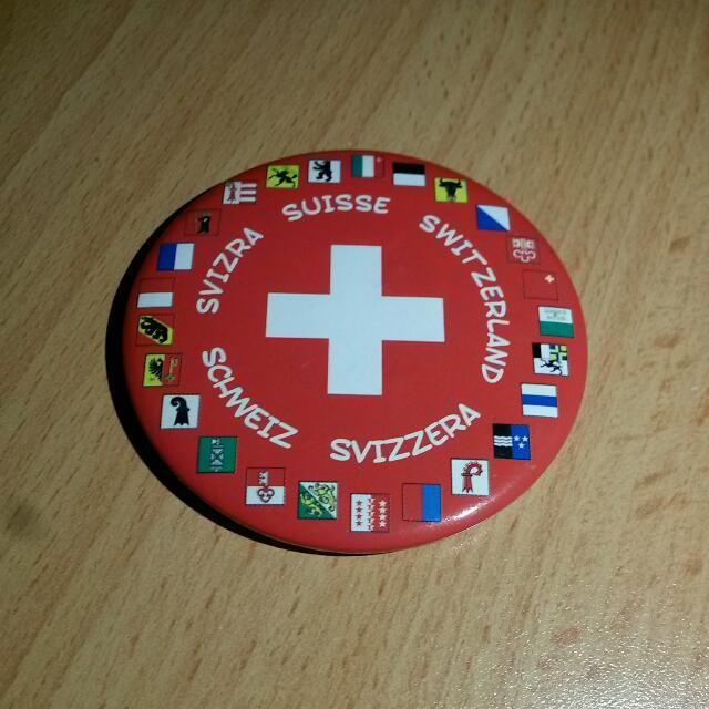 Switzerland Round Fridge Magnet