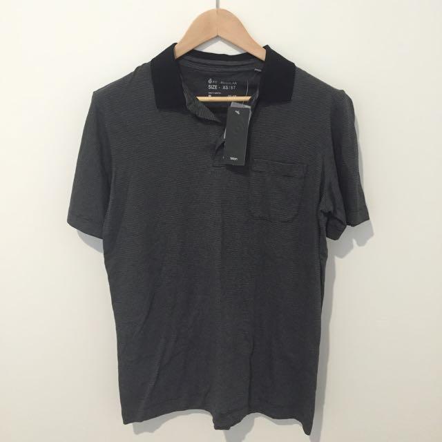 TARGET Size XS Grey Black Polo