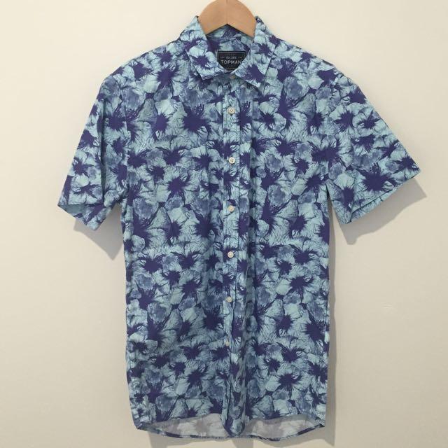 TOPMAN Size S Hawaiian Button-up Shirt