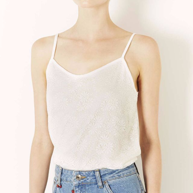 TOPSHOP Lace Scallop Camisole