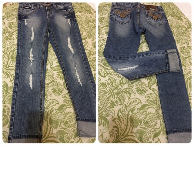 TRIBAL DISTRESSED JEANS