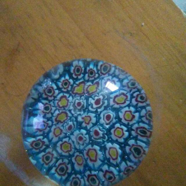 Vintage Murano Miniflorea Glass Paperweight