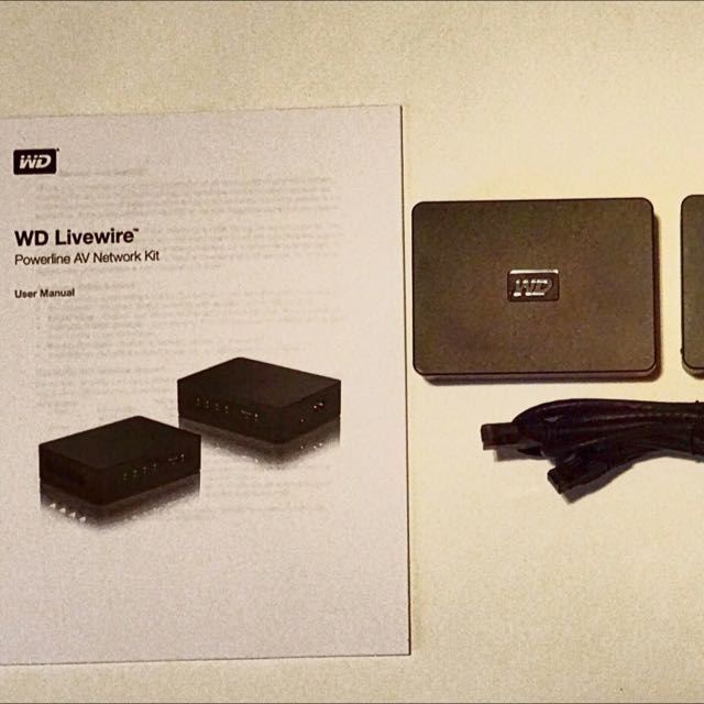 WD Livewire Powerline AV Network Kit 200Mbps extend Internet to your HDTV
