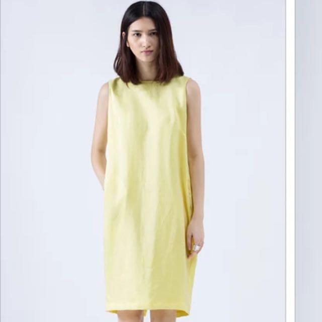 White Straight Cut Dress